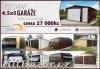 Plechové garáže garáž pozinkovaný od výrobce 4,5x5 garáž sklad