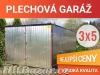 Plechové garáže garáž pozinkovaný od výrobce 3x5  montáž zdarma